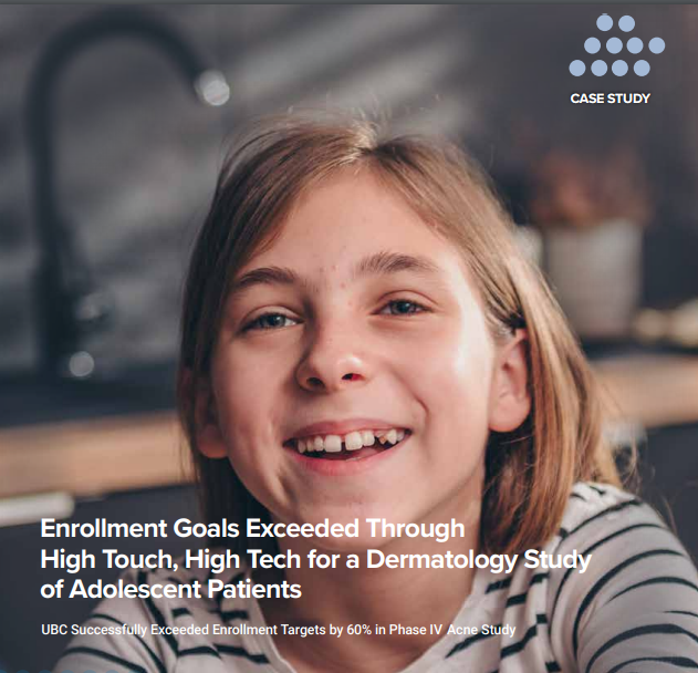 Cover of a clinical trial enrollment case study