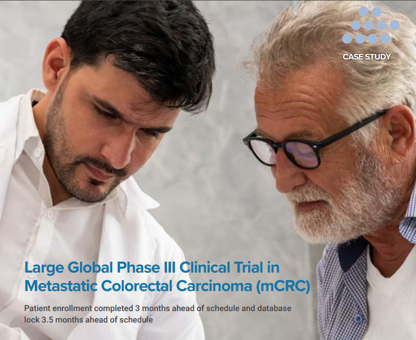 Cover image for a case study on a phase III clinical trial