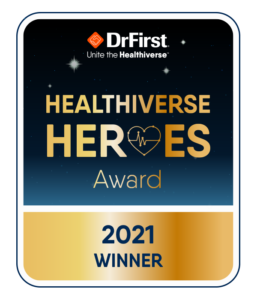 Healthiverse Heroes award UBC won for mobile patient recruitment